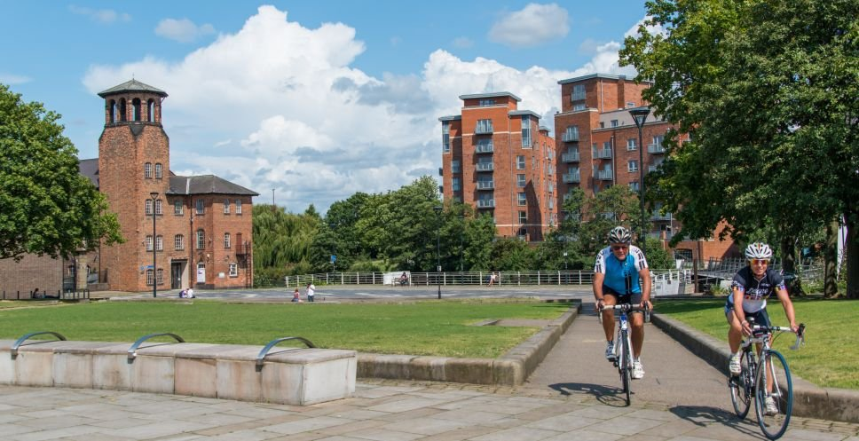 Cycling at the Sill Mill, Derby