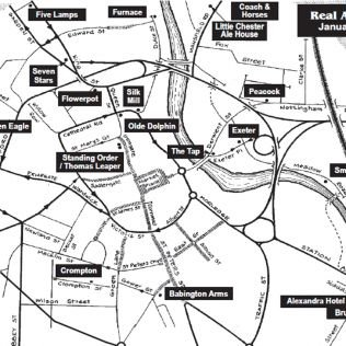 Derby Real Ale Trail Map
