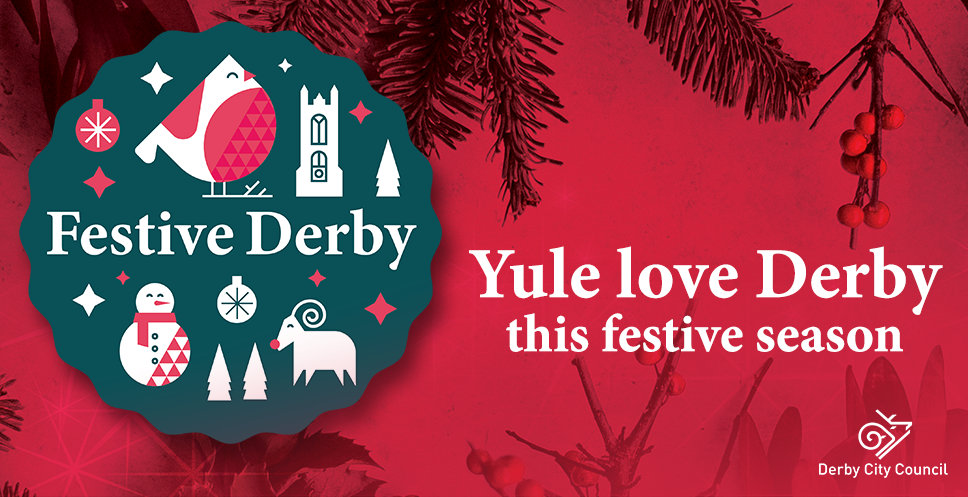 Festive Derby artwork - Yule Love Derby this festive season