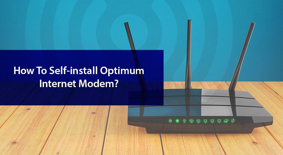 Self Install Optimum Internet Modem