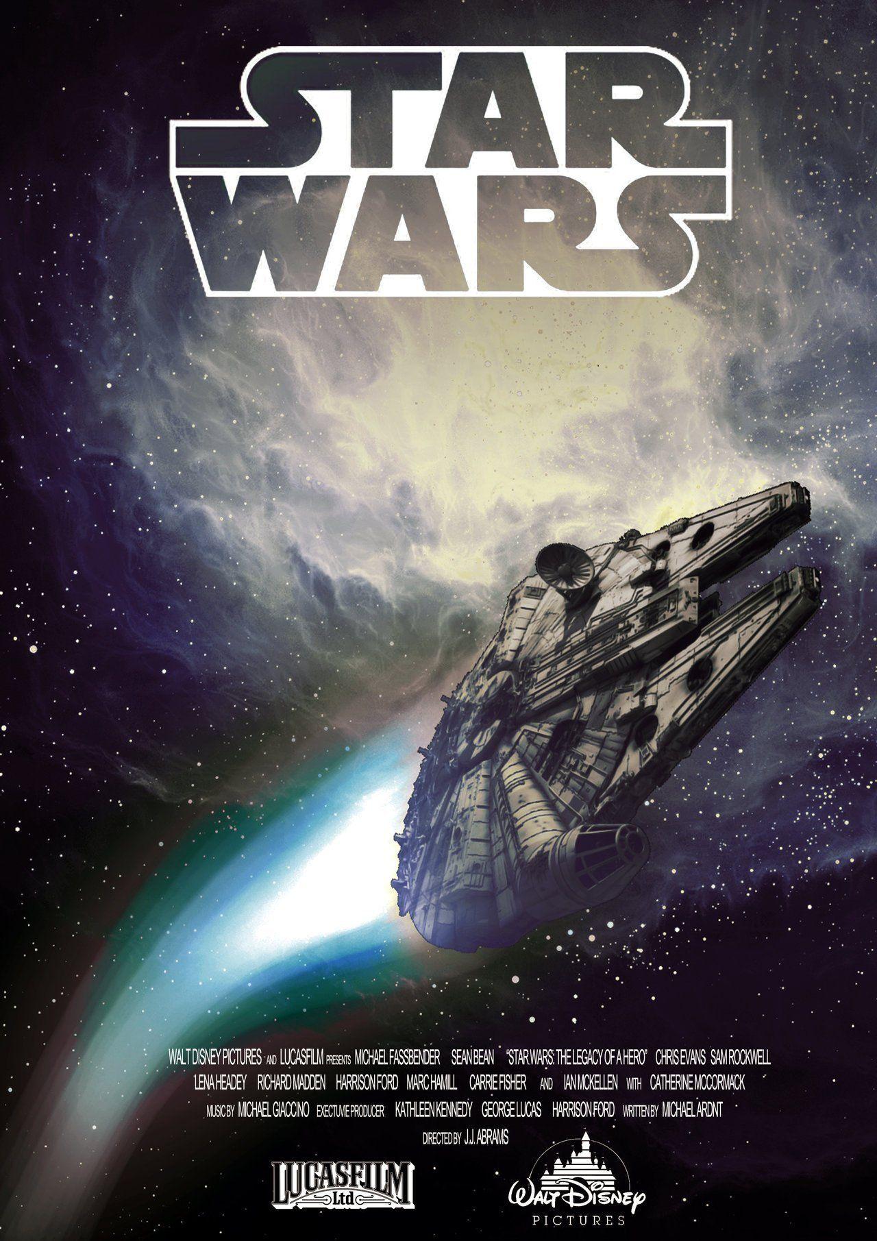Star Wars Episode 7 Millenium Falcon Poster Fan Made