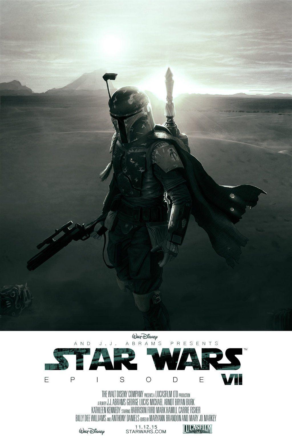 Star Wars Episode 7 Boba Fett Poster Fan Made