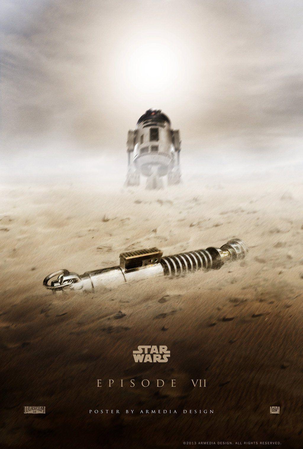 Star Wars Episode 7 R2D2 Poster Fan Made