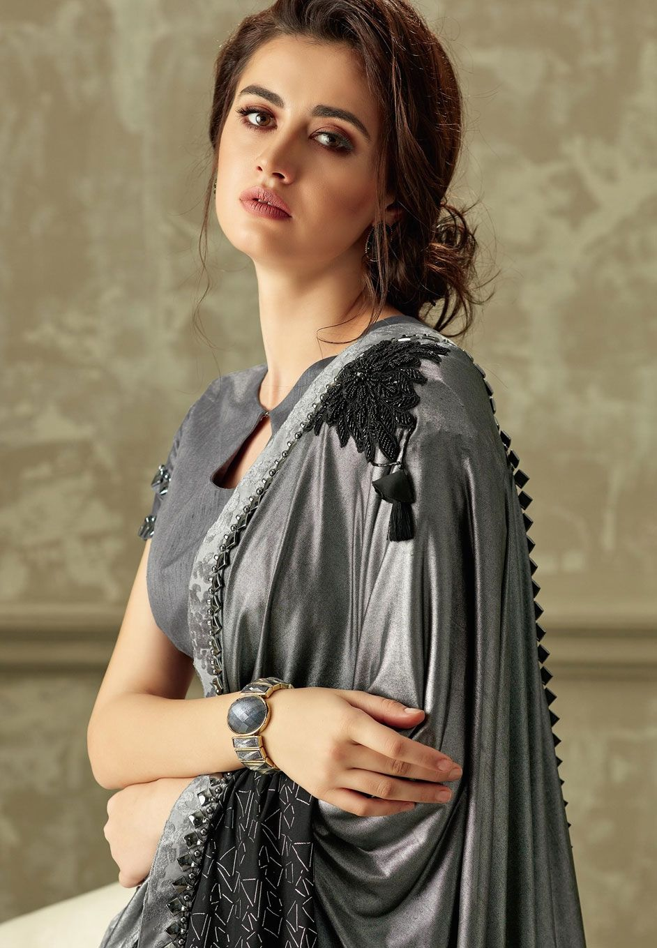 eb989b816b6 Party wear Designer Sarees  Go get Styled in the Glamorous Look ...