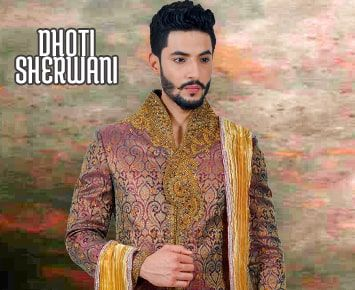 Dhoti Sherwani, Men's Dhoti Sherwani, Indian Sherwani for Men