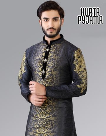 Mens Kurta Pyjama, Indian Kurta Pyjama, Mens Indian Wedding Clothing