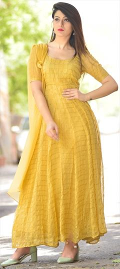 1d1e48df3a Designer - Yellow - Salwar Kameez: Shop online Salwar Suits