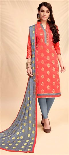 00471077e3 Orange - Banarasi Silk - Salwar Kameez: Shop online Salwar Suits