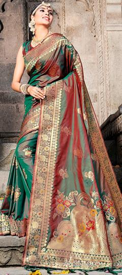47f1d341bd Green - Silk - Weaving - Sarees: Shop online Bridal Wedding Sarees ...