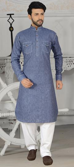 Indian Traditional Festive Mens Linen Pathani Suit Biege