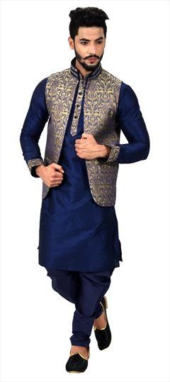 79e36de65 Traditional Kurta Pyjama with Jacket | Buy Mens Ethnic Wear Online