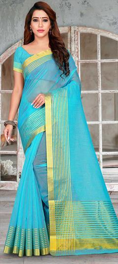 saree dress dress for women,traditional saree,saris indian saree Nevy blue Handloom Linen With Digital Printed saree and blouse for women