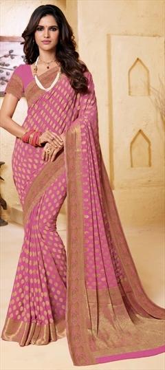Floral Sari Wedding Wear Designer Soft Chiffon Saree Indian Ethnic New PartyWear