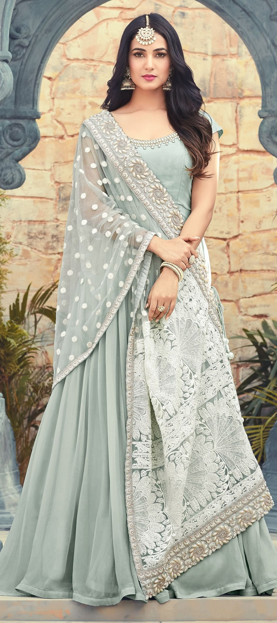 c669684c1f 1500167: Casual Blue color Georgette fabric Salwar Kameez