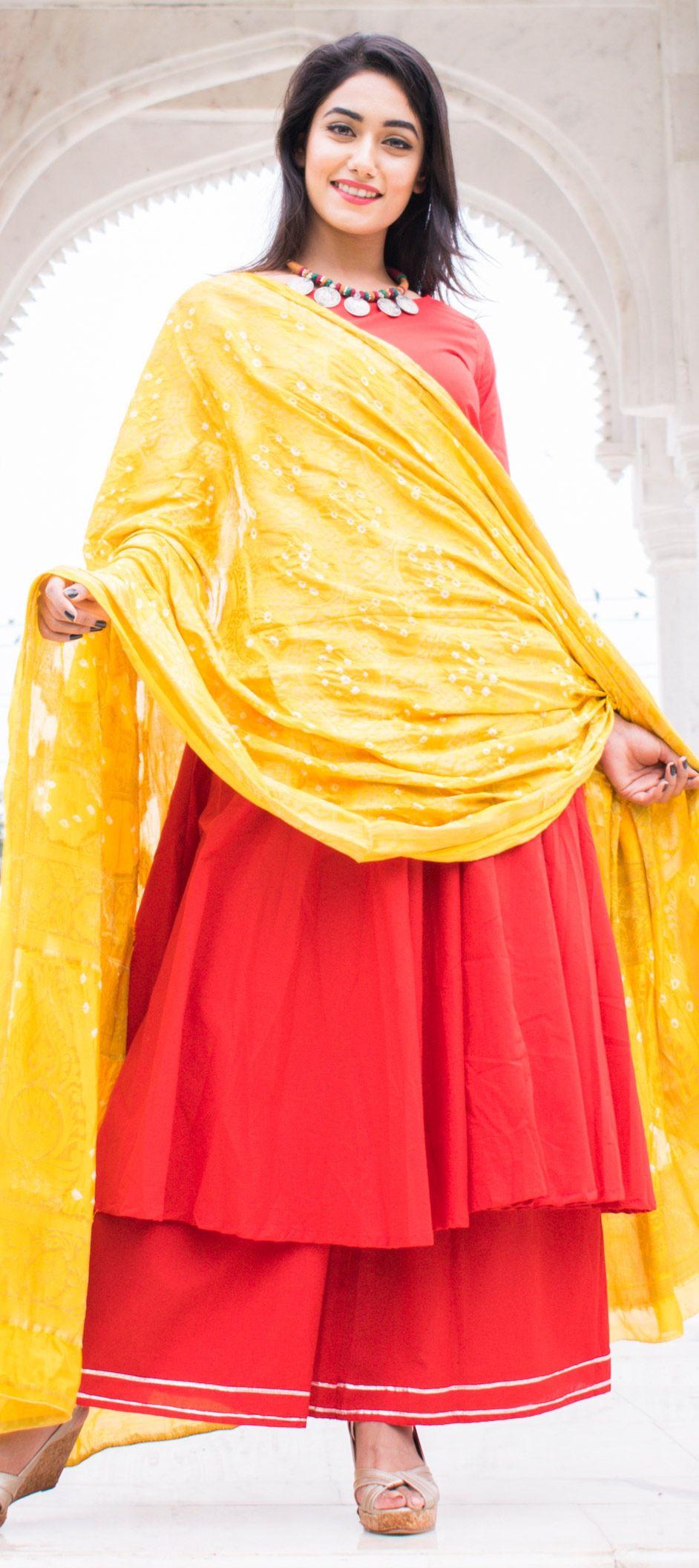 45a360f457 1532124: Designer Red and Maroon color Cotton fabric Salwar Kameez
