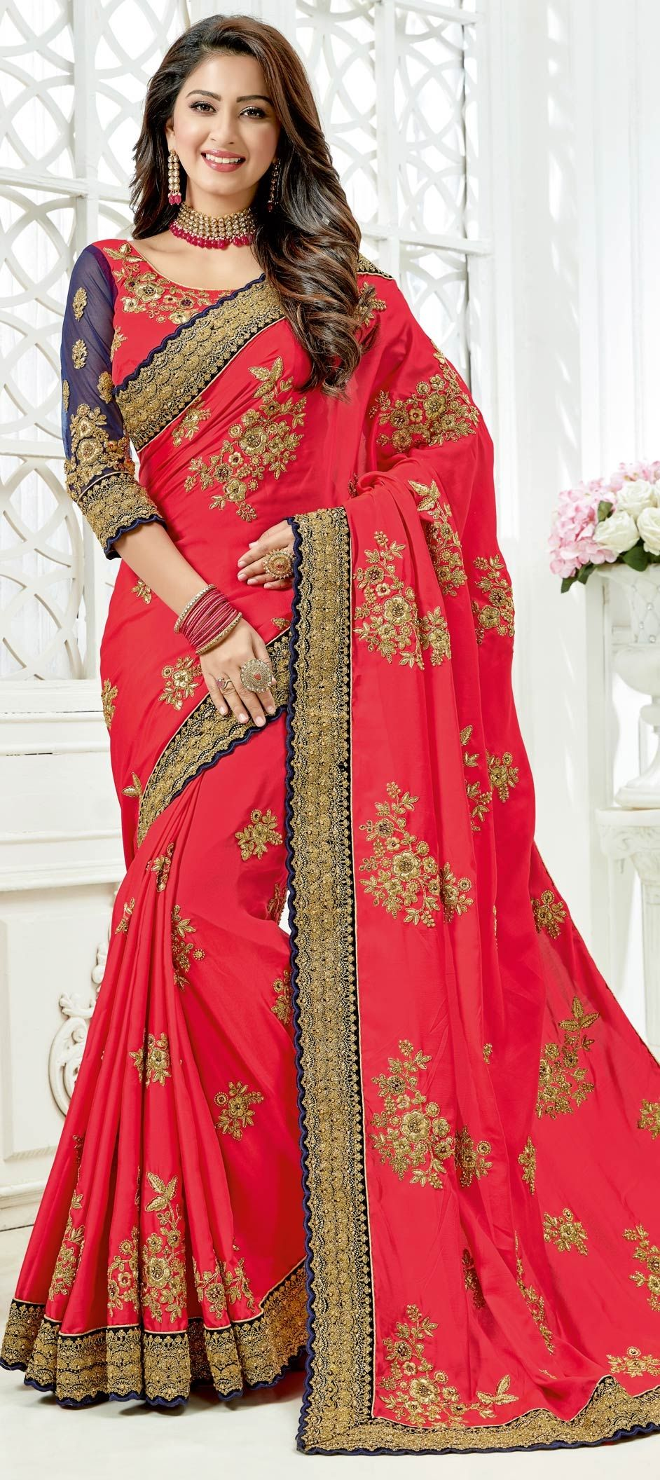 447bf5dbeca017 1553611: Party Wear, Reception, Traditional Pink and Majenta color ...
