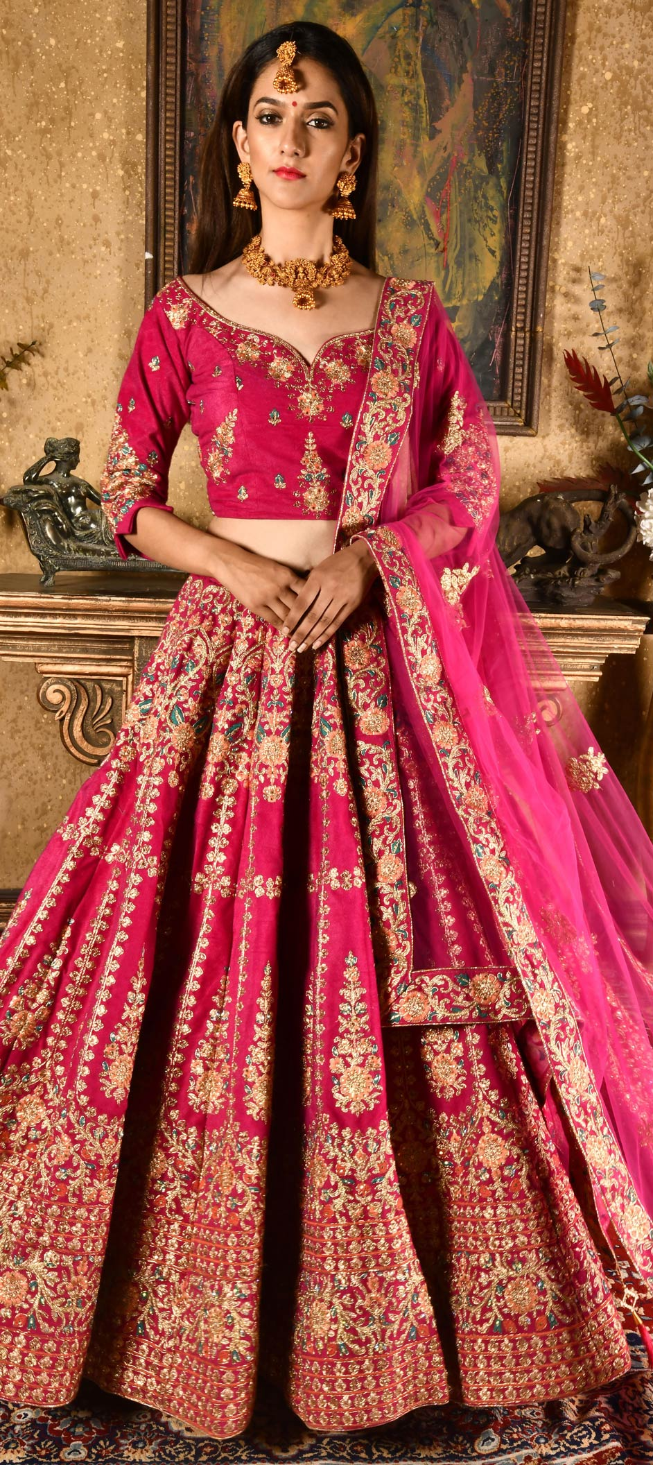 5a0623a8dbe96 Bridal, Mehendi Sangeet, Reception, Wedding Pink and Majenta color ...