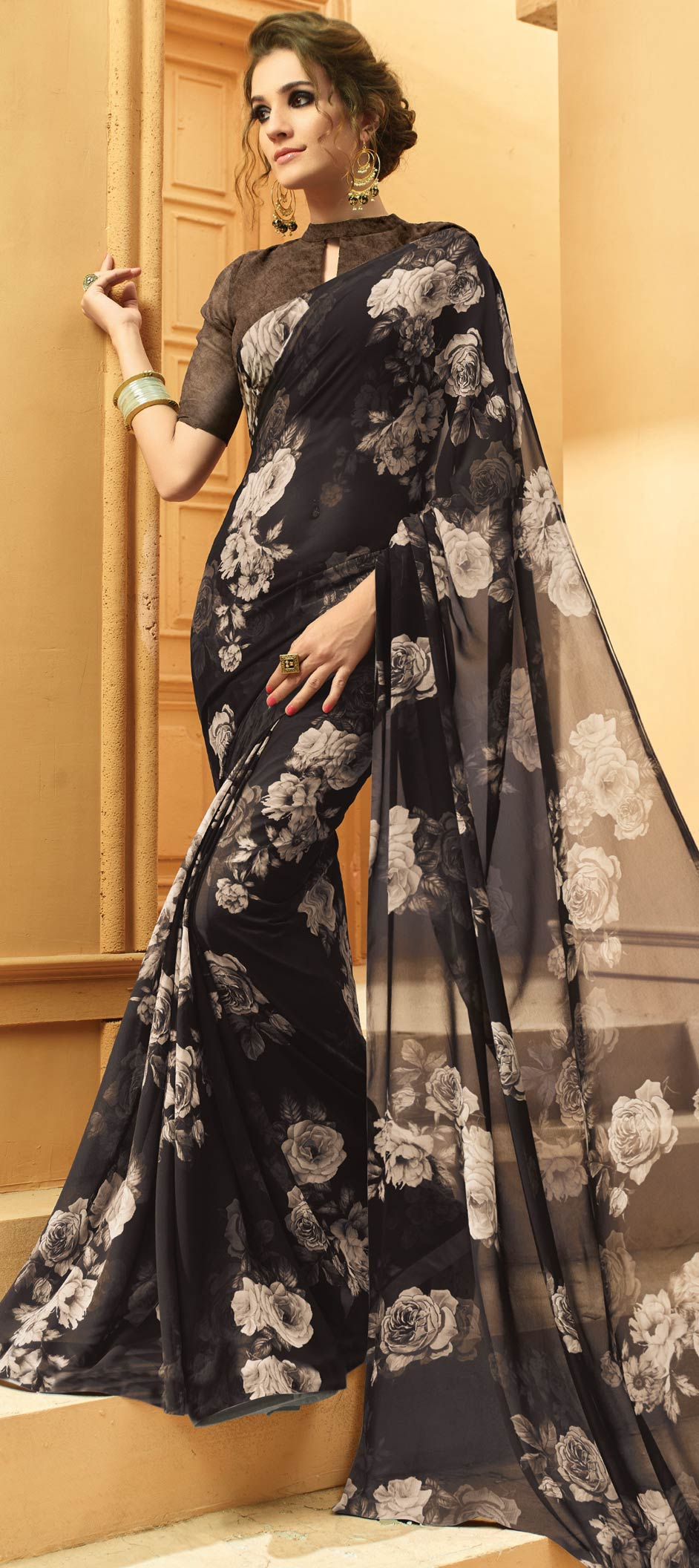 Georgette Bollywood Printed Sarees