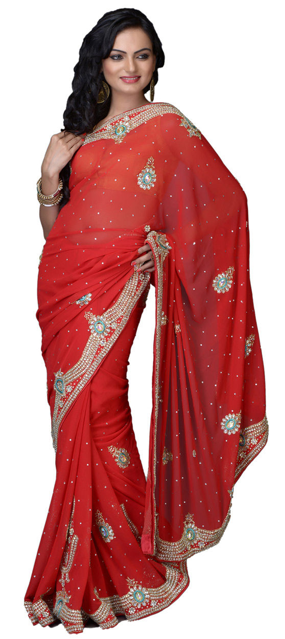 e294040af2f7 174703: Red and Maroon color family Bridal Wedding Sarees,Party Wear ...
