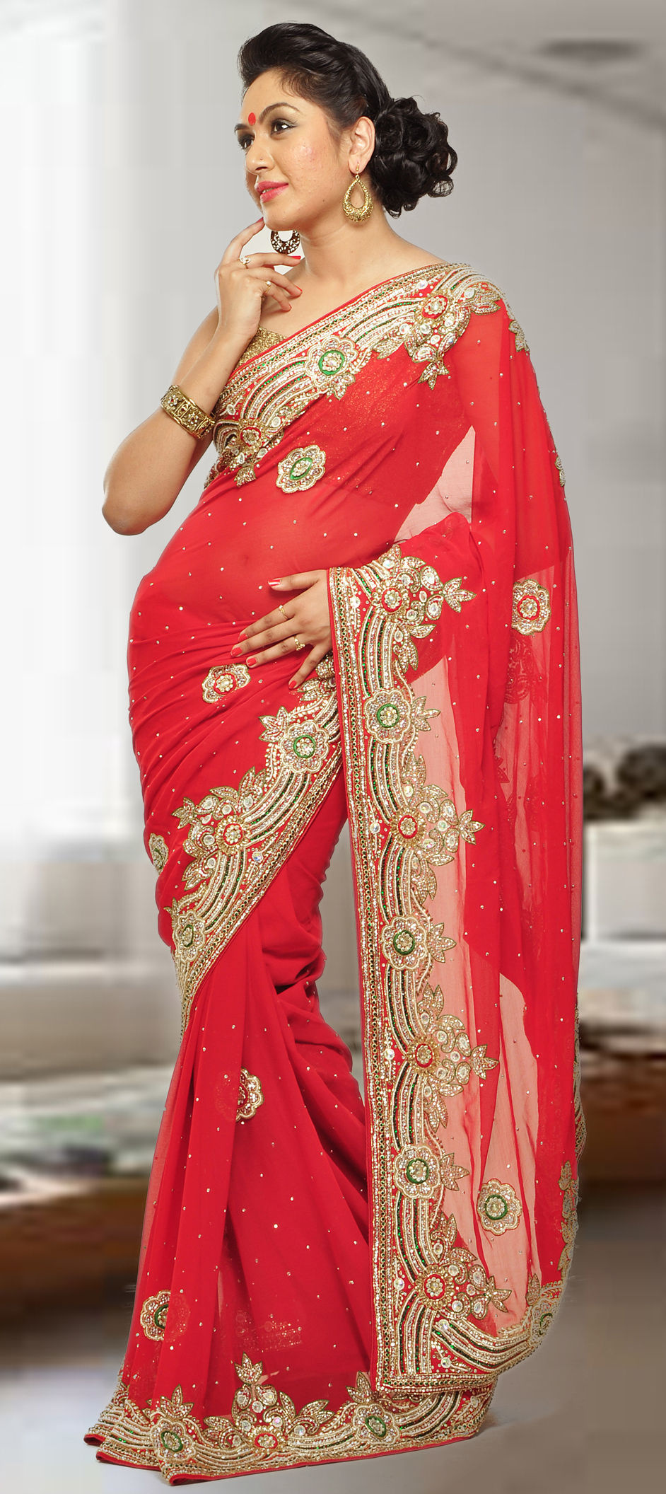 b0a4eb5429c 174707  Red and Maroon color family Bridal Wedding Sarees