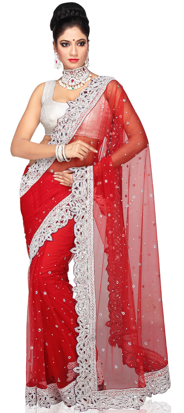 518c19ab750 195733  Red and Maroon color family Bridal Wedding Sarees
