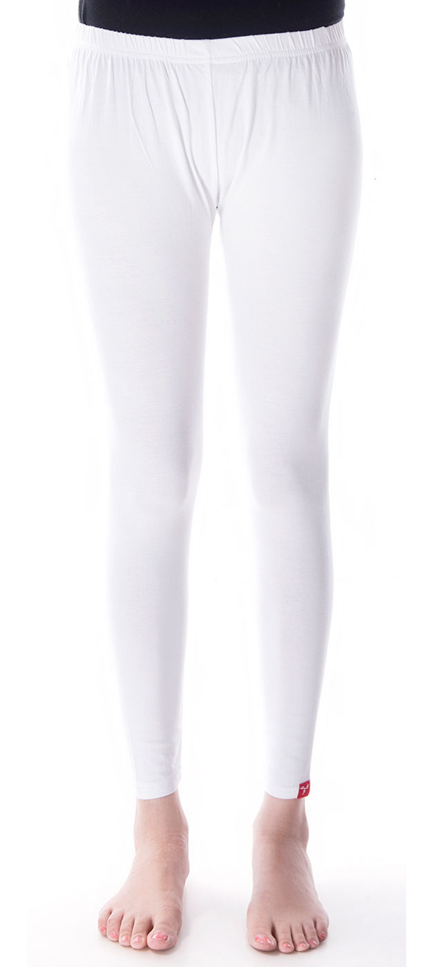 4b21e99831aca 600295: White and Off White color family stitched leggings .