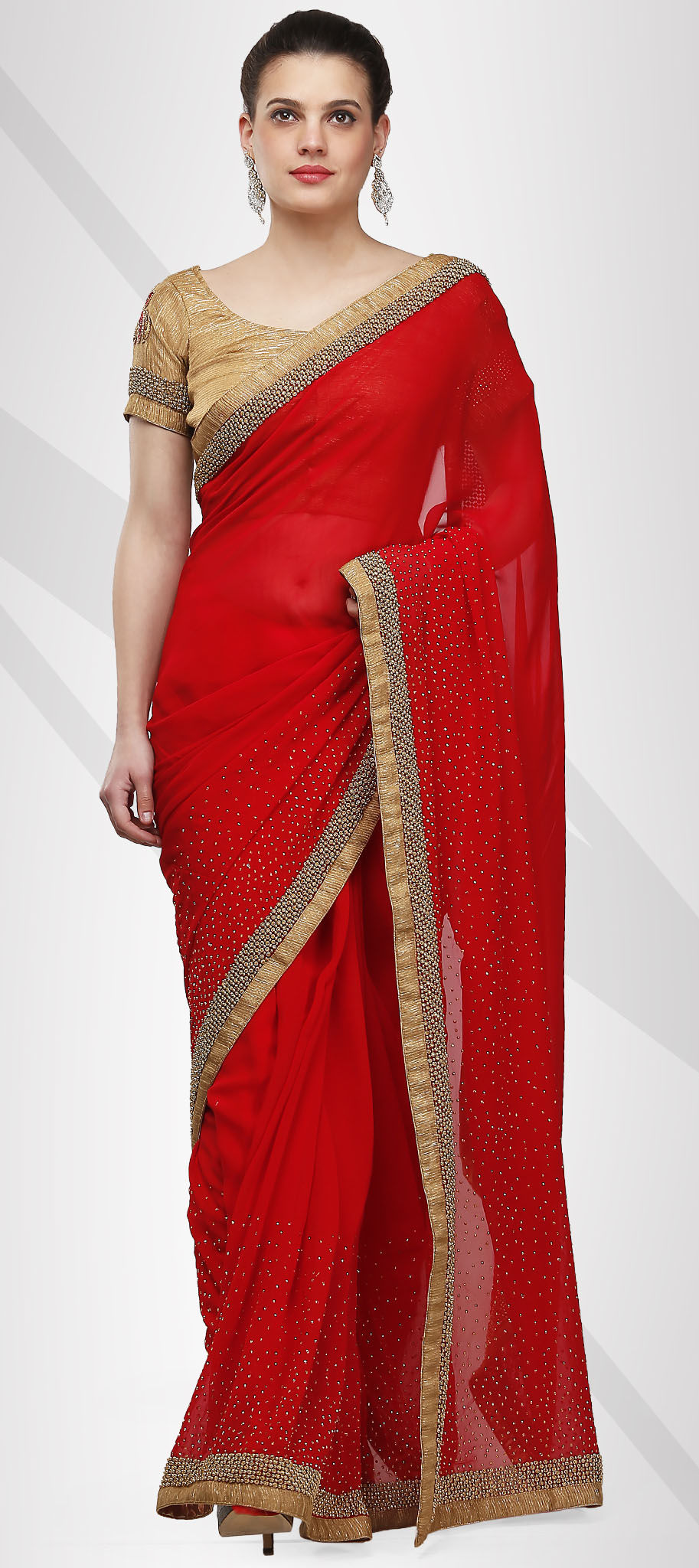 d5d7776d74b 725046  Red and Maroon color family Bridal Wedding Sarees with ...