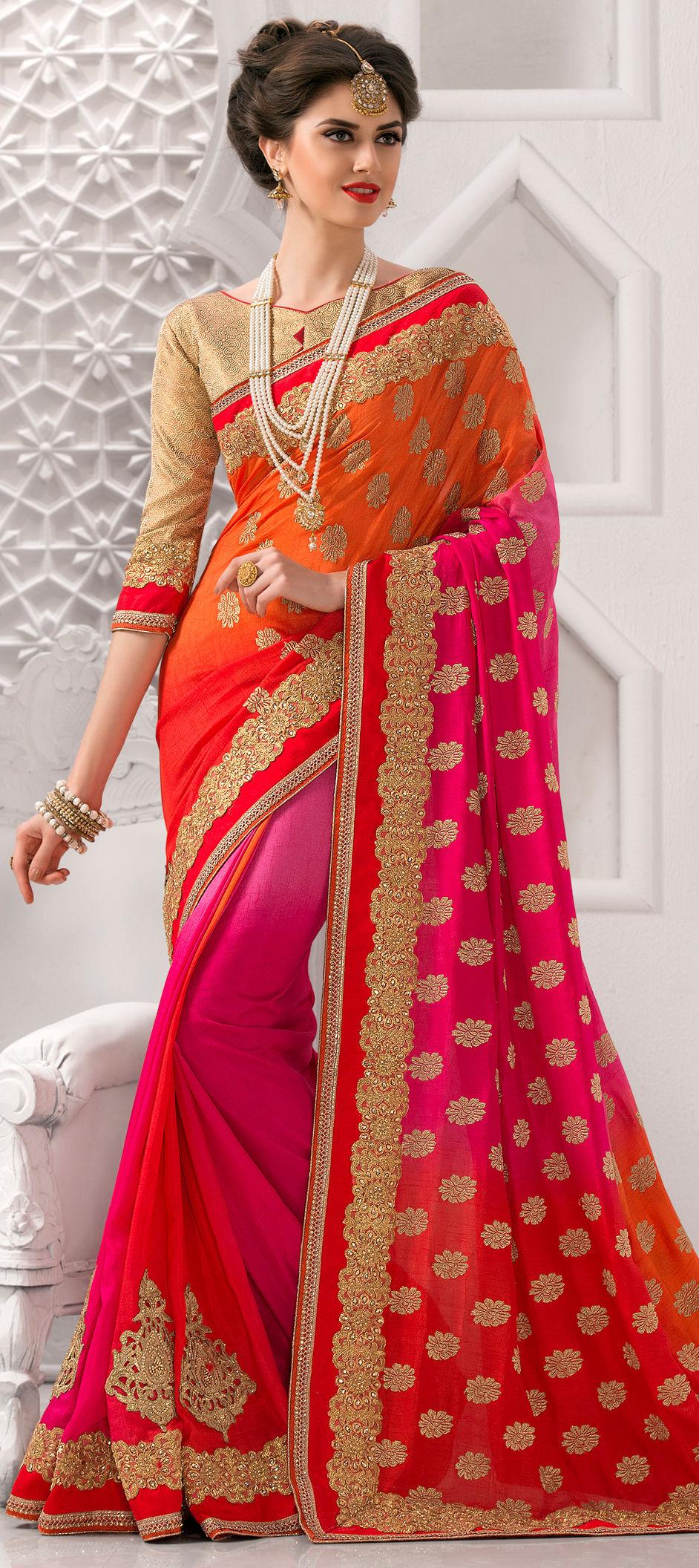 3f6806cb914222 731204  Multicolor color family Embroidered Sarees