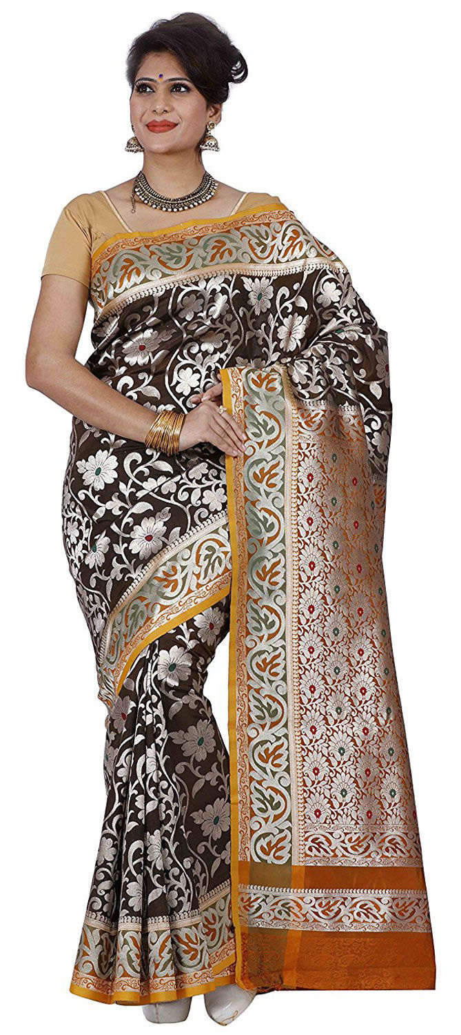 cb69ccdd1a 742410: Party Wear Gold, Red and Maroon color Kanjeevaram Silk, Silk ...