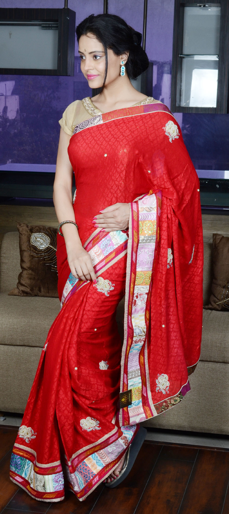 154109f85174 744183: Red and Maroon color family Bridal Wedding Sarees with ...