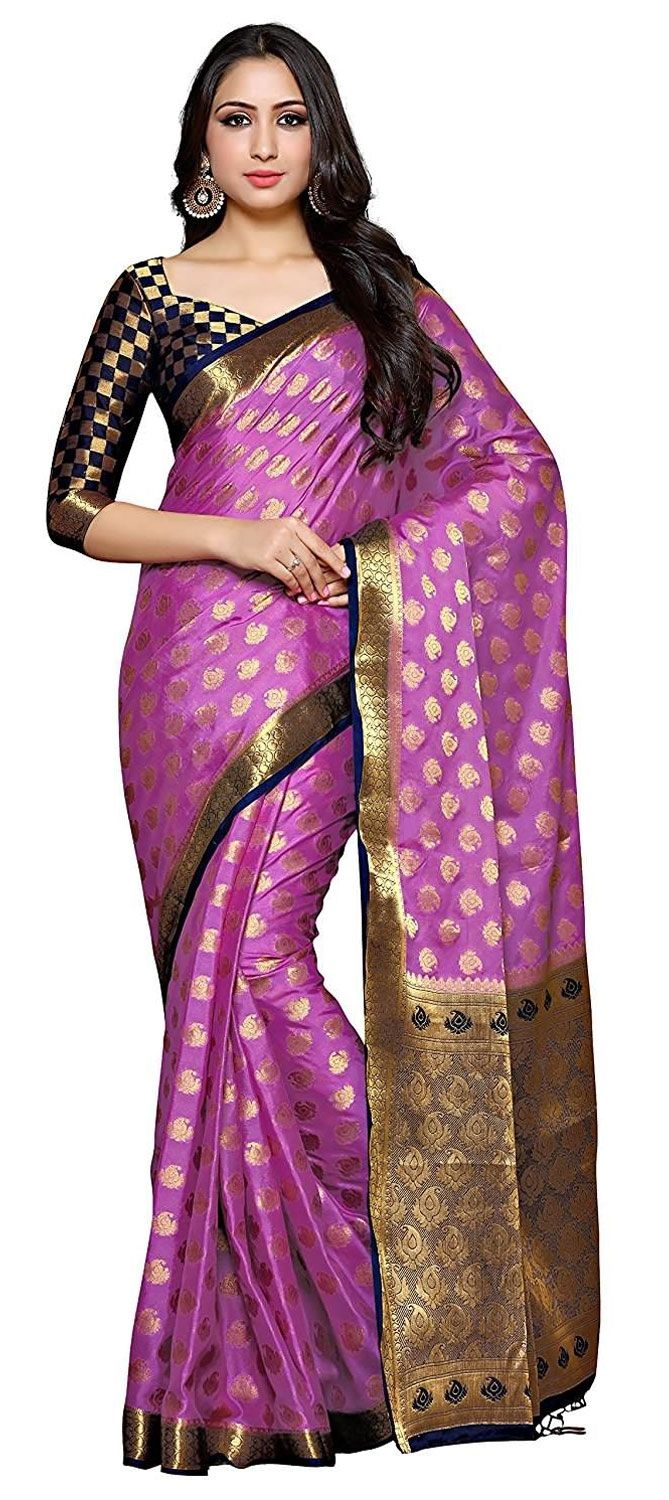 674dd07223875e 751545  Purple and Violet color family Party Wear Sarees