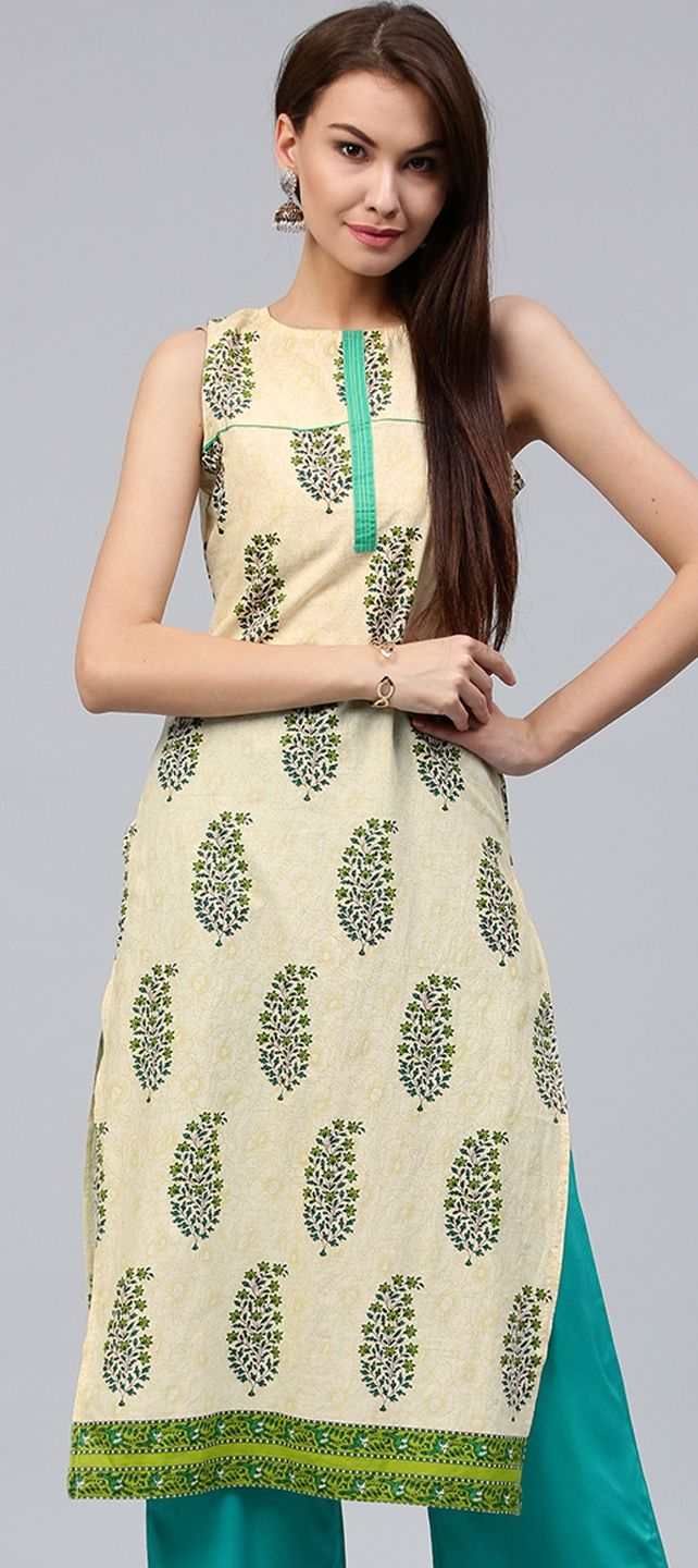 72430459d 903925  White and Off White color family stitched Cotton Kurtis ...