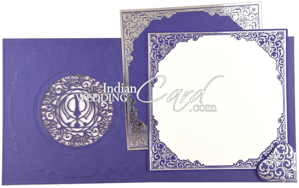 purple colored laser cut theme with baroque foil border