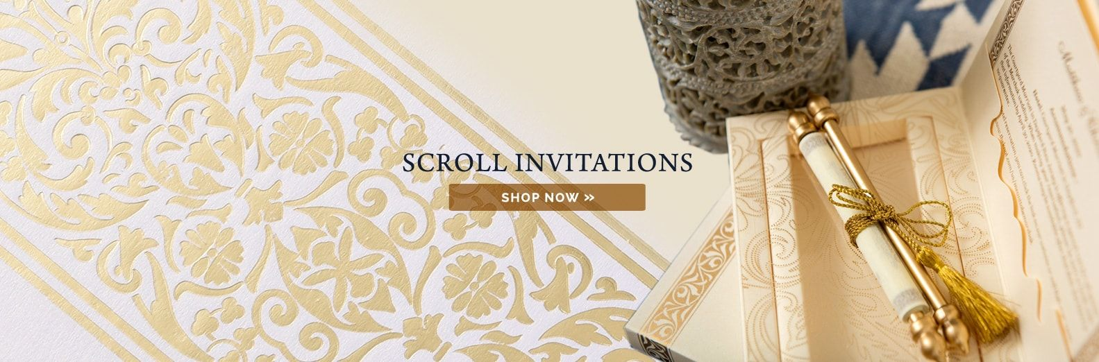 Indian Wedding Cards Scroll Wedding Invitations Theme Wedding