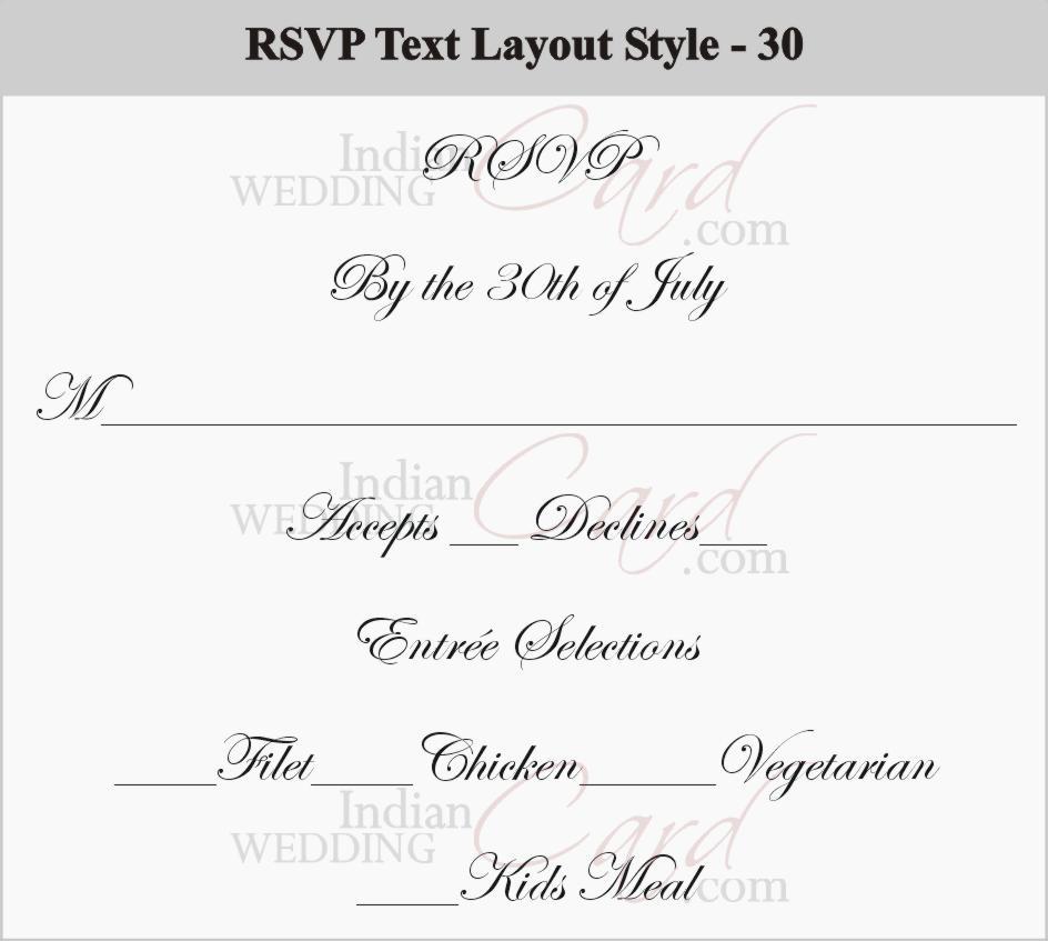 RSVP Wording Cards