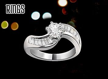 Silver Gold Plated Rings for Women, Rhodium Plated Rings Wholesale