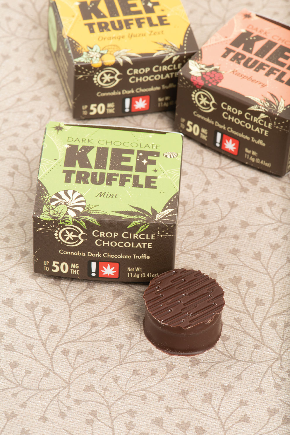 Crop Circle Mint Dark Chocolate Kief Truffle
