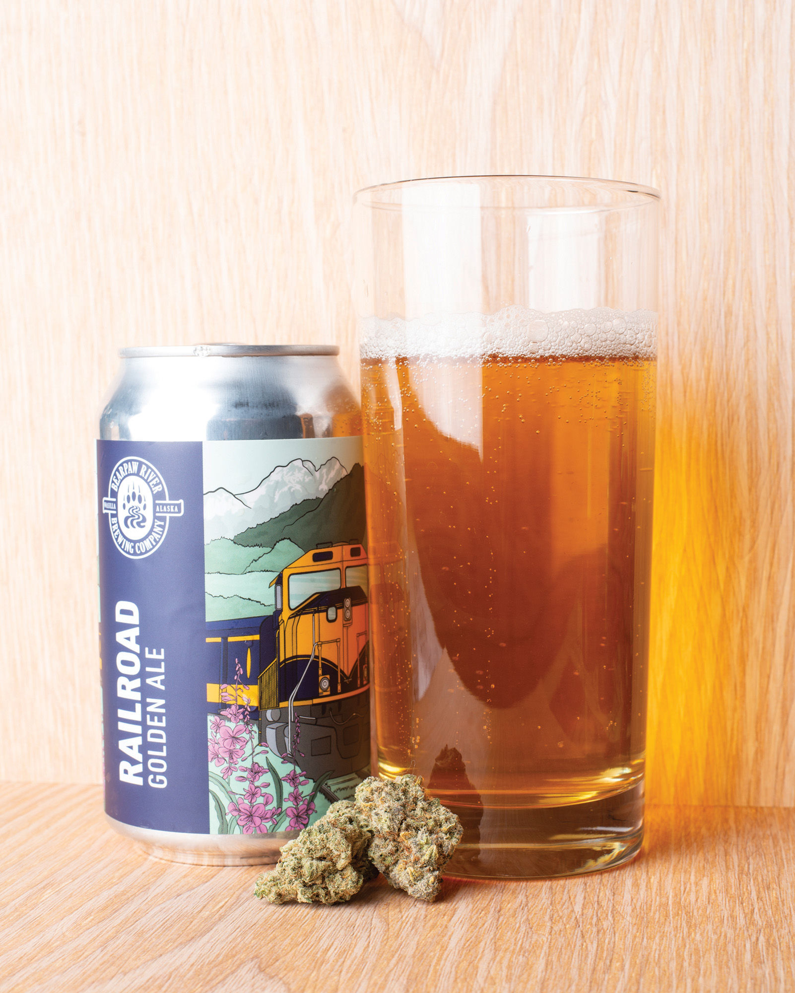 Peppermint Kush and Railroad Golden Ale