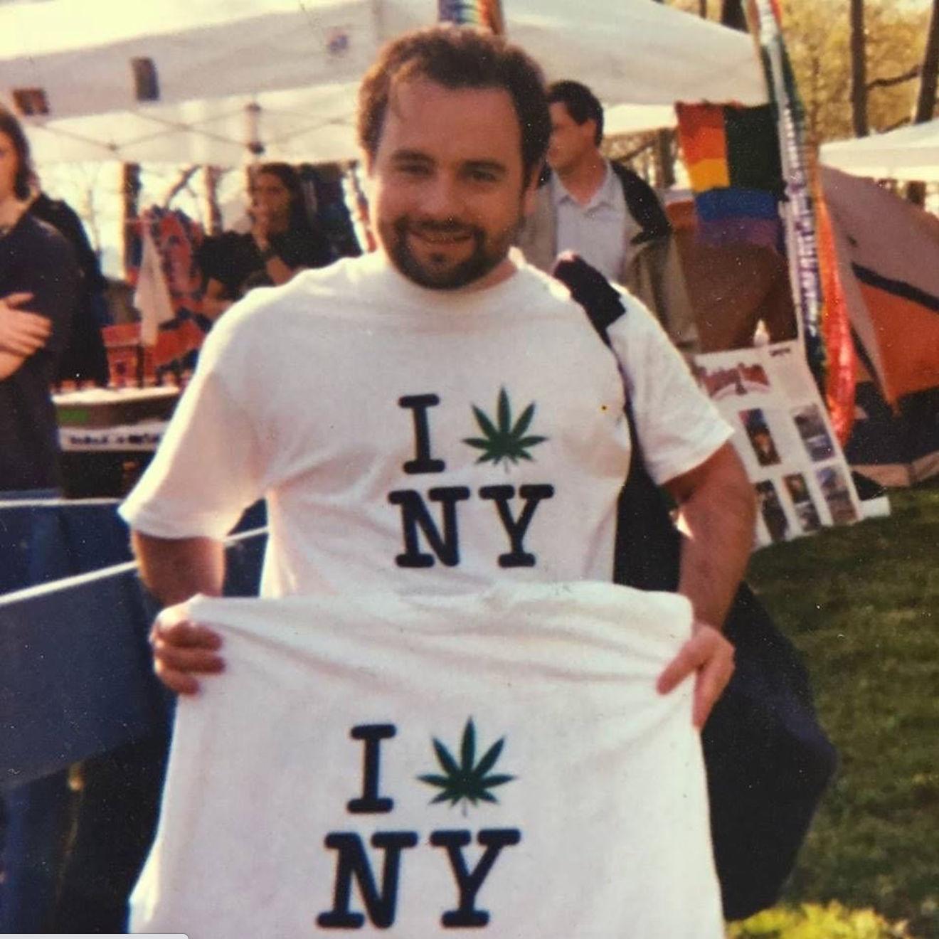 Danny at NYC Pot Parade in 1998