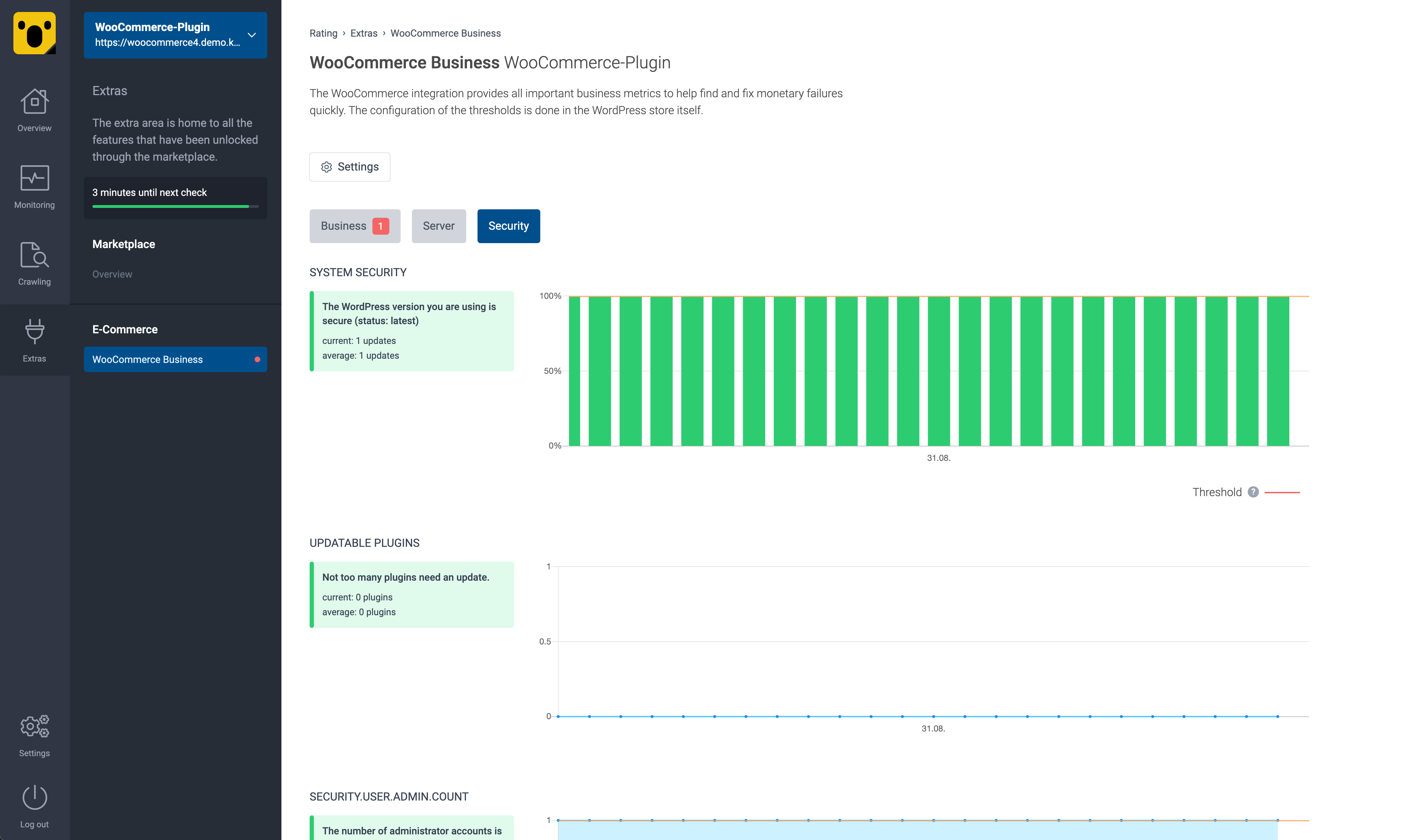 WordPress & WooCommerce Monitoring Preview