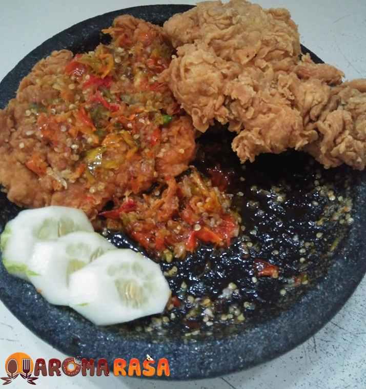 Resep Ayam Geprek, Mudah, Hasilnya Crispy dan Pedas