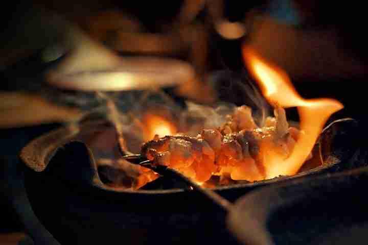 Sate Klathak adalah sate daging kambing dengan bumbu gurih