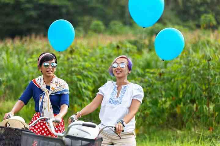 wisata sepeda, bersepeda keliling desa, instagramable, cocok untuk outing kantor dan acara gathering bersama keluarga