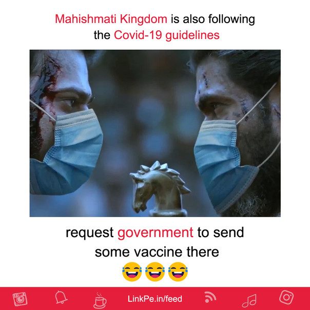 Request government to send some vaccine there