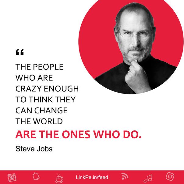 Steve Jobs quote - LinkPe