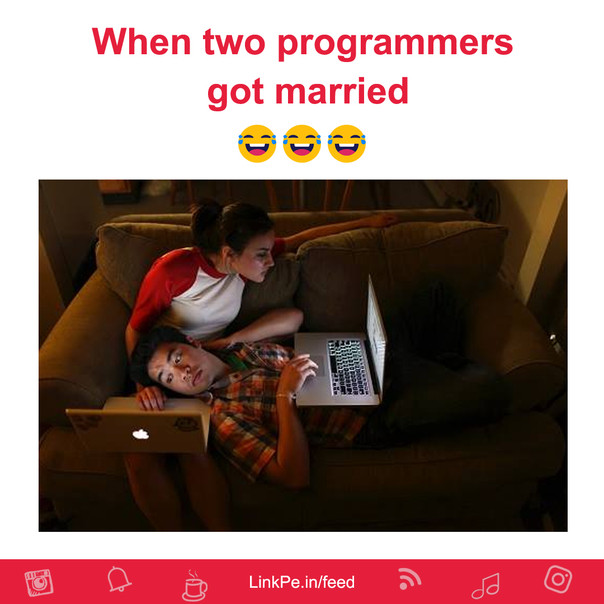 When two programmers got married