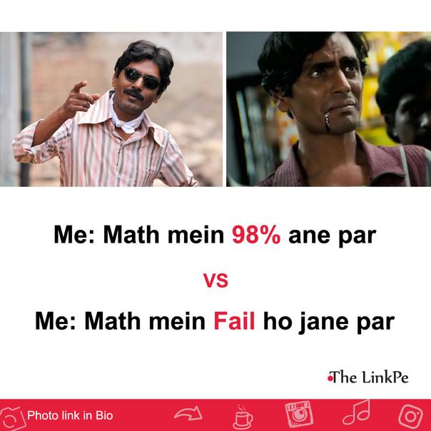 meme: Math me 98% ane par