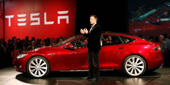 Elon Musk at Tesla Roadster launch