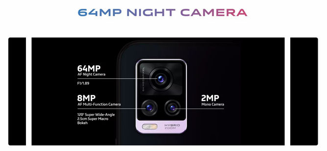 vivo V20 Pro 5G 64MP Camera