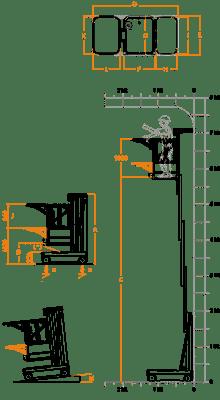 FARAONE ELEVAH 80 MOVE PICKING lagana radna platforma 7,7 mt radne visina